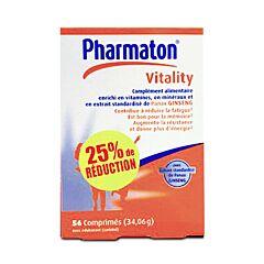Pharmaton Vitality 56 Comprimés PROMO -25%