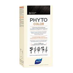 Phytocolor Coloration Permanente Pigments Végétaux N°3 Châtain Foncé 1 Kit
