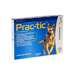 Prac-tic Spot-O Anti-Puces & Anti-Tiques Grands Chiens 22-50kg 3 Pipettes