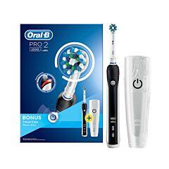 Oral B Pro 2500 Cross Action Elektrische Tandenborstel Zwart + Travel Case