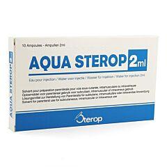 Aqua Sterop Eau pour Injection 10 Ampoules x 2ml
