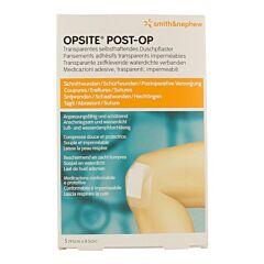 Opsite Post-Op Pansements Adhésifs Transparents 9,5cmx8,5cm 5 Pièces