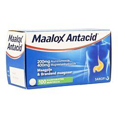 Maalox Antacid Goût Menthe 100 Comprimés à Croquer