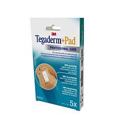 Tegaderm + Pad 3M Transparant Steriel 5x7cm  5 Stuks