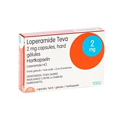 Loperamide Teva 2mg 20 Gélules