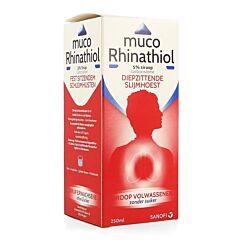 Muco Rhinathiol Toux Grasse Sirop Sans Sucre Adultes Flacon 250ml