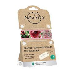 Parakito Anti-Muggen Armband Roses + 2 Navullingen