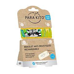 Parakito Kids/ Teens Anti-Muggen Armband Raccoon + 2 Navullingen
