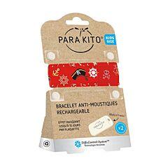 Parakito Kids/ Teens Anti-Muggen Armband Caribbean + 2 Navullingen