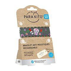 Parakito Kids/ Teens Anti-Muggen Armband Dark Roses + 2 Navullingen
