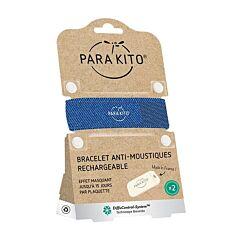 Parakito Anti-Muggen Armband Denim + 2 Navullingen