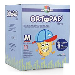Ortopad Medium Boys Oogkompres 50 Stuks
