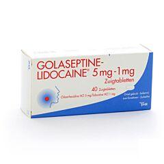 Golaseptine Lidocaine 40 Comprimés à Sucer