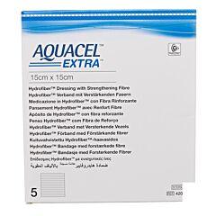 Aquacel Extra Pans Hydrofiberplusrenf Fibr 15x15cm 5
