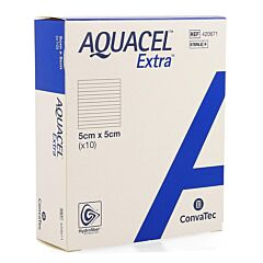 Aquacel Extra Pans Hydrofiberplusrenf Fibr 5x 5cm 10