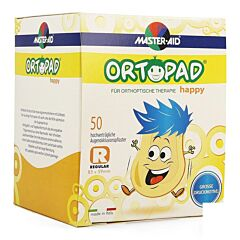 Ortopad Happy Regular Oogpleister 50 Stuks