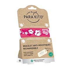 Parakito Bracelet Sakura Anti-Moustiques + 2 Recharges