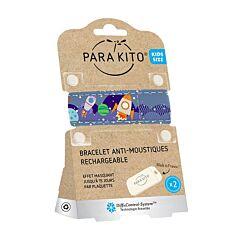 Parakito Kids/ Teens Anti-Muggen Armband Kids Space + 2 Navullingen