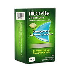 Nicorette 2mg Nicotine 105 Gommes à Mâcher