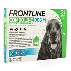 Frontline Combo Line Hond M 10-20kg Vlooien/Teken/Luizen 3x1,34ml