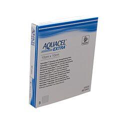 Aquacel Extra Verband Hydrofiber + Versterking 10x10cm 3 Stuks