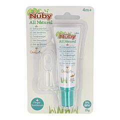 Nuby Citroganix Tand- & Tandvleesgel Met Vingertandenborsteltje 20g