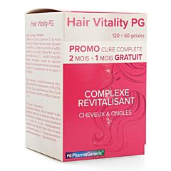 Hair Vitality PG Complexe Revitalisant Cheveux & Ongles PROMO 3x60 Gélules