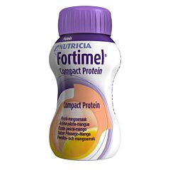Fortimel Compact Protein Pêche Mangue Bouteille 4x125ml
