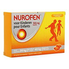 Nurofen Kind 100mg Zachte 24 Kauwcapsules