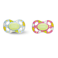 Bibi Fopspeen Happiness Natural 4 Friends Glow Dark 0-6m