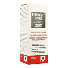 Pulmocap Thymus Toux Productive & Rhume Sirop Flacon 200ml