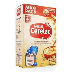 Nestlé Cerelac Céréale Biscuitée pour Panades de Fruits 4m+ 800g