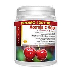 Fytostar Acerola C-500 Vitamine C Promo 120 Tabletten +30 GRATIS