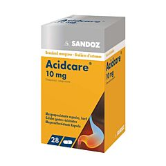 Acidcare Sandoz 10mg Oméprazole 28 Gélules Gastrorésistantes