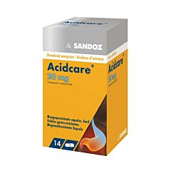 Acidcare Sandoz 20mg Oméprazole 14 Gélules Gastrorésistantes