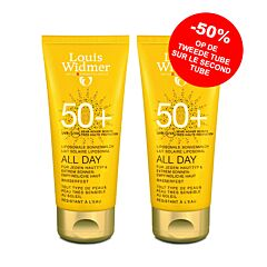 Louis Widmer Sun All Day 50+ Zonder Parfum Duo 2x100ml