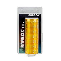 Anabox Pilulier Semaine Orange 1 Pièce
