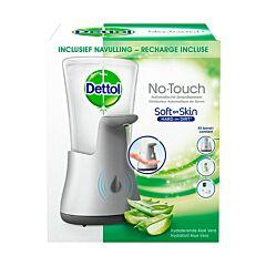 Dettol No-Touch Distributeur Automatique de Savon + Recharge Aloë Vera 250ml Incluse