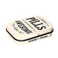 Awesome Pills Bonbons à la Menthe Boîte Métalisée 15g