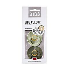Bibs Fopspeen Duo Sage/Hunter Green 0-6M 2 Stuks