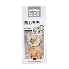 Bibs Fopspeen Duo Vanilla/Peach 0-6M 2 Stuks