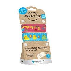 Parakito Kids/ Teens Anti-Muggen Armband Bij/ Eend 1+1 + 2 Navullingen