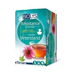 Biolys Résistance Hivernale Tisane Cannelle Echinacea 24 Infusions