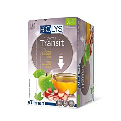 Biolys Transit Intestinal Tisane Pomme Rhubarbe Séné 24 Infusions