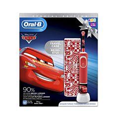 Oral-B Cars D100 Brosse à Dents Electrique Enfants 3+ ans 1 Pièce + Etui de Voyage GRATUIT