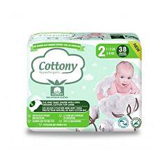 Cottony Couches Bébé - Taille 2 - 3-6kg - 38 Pièces