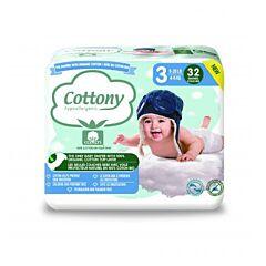 Cottony Couches Bébé - Taille 3 - 4-9kg - 32 Pièces