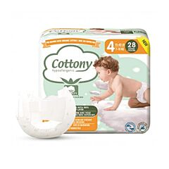 Cottony Couches Bébé - Taille 4 - 7-18kg - 28 Pièces