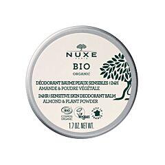 Nuxe Bio Déodorant Baume Peaux Sensibles 24h Amande & Poudre Végétale Pot 50g