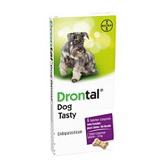 Drontal Hond Tasty Bone Ontworming 6 Tabletten